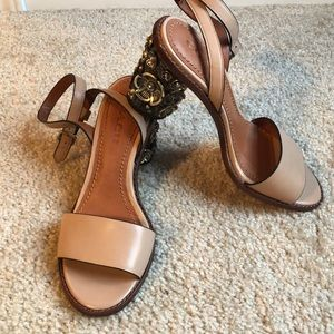 8cc86cc21 Coach Shoes | New Tea Rose Mid Heel Sandal7 | Poshmark
